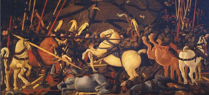 картина Бернардино Делла Сиарда падает с  лошади, Учелло - Paolo Uccello фото