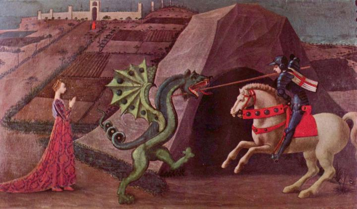 Святой Георгий и Дракон - Paolo Uccello фото