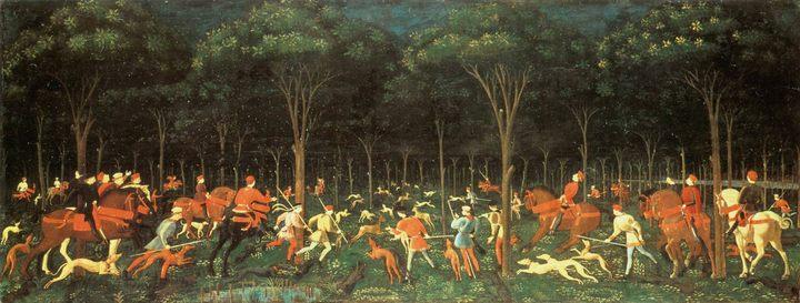 Сцена охоты :: Паоло Учелло - Учелло Паоло (Paolo Uccello) фото
