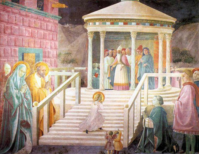 Представление Марии в храме :: Паоло Уччелло - Paolo Uccello фото
