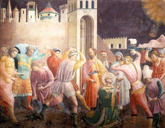 Побивание камнями св. Стефана :: Паоло Учелло - Paolo Uccello фото