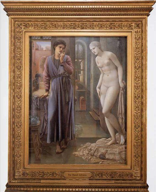 Пигмалион и Галатея :: Эдуард Коли Бёрн-Джонс, описание картины  - Edward Coley Burne-Jones фото
