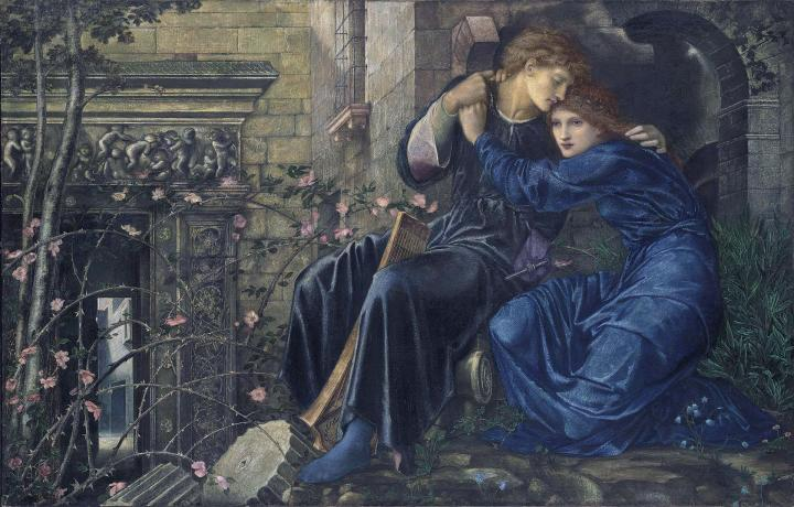 картина Любовь среди руин :: Бёрн-Джонс Эдуард  - Edward Coley Burne-Jones фото