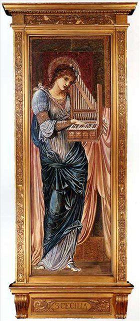 Святая Сесилия :: Бёрн-Джонс Эдуард, описание картины  - Edward Coley Burne-Jones фото