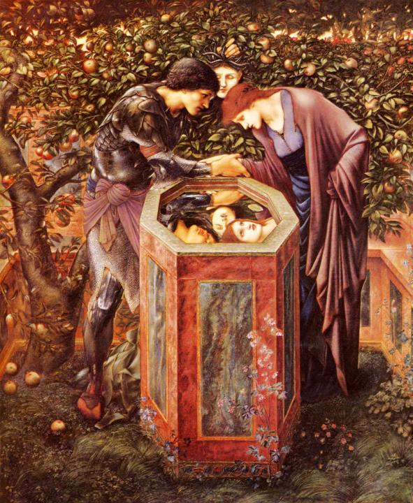 Страшная голова :: Эдуард Берн Джонс, описание картины - Edward Coley Burne-Jones фото
