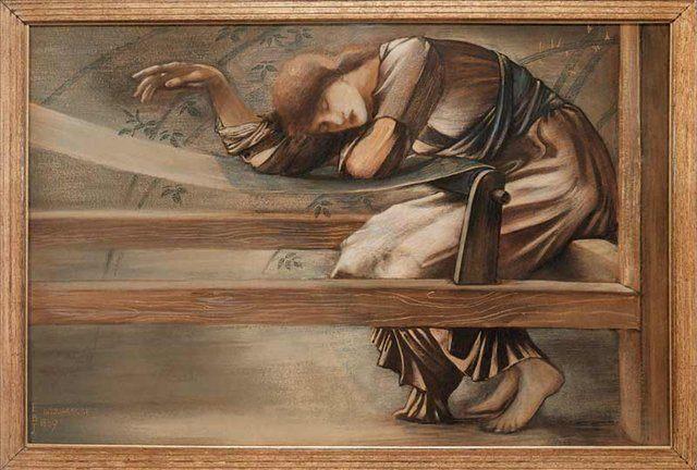 Колючий кустарник, набросок для Сада Суда :: Бёрн-Джонс Эдуард  - Edward Coley Burne-Jones фото
