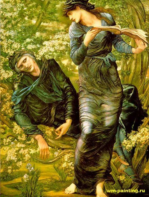 Обман Мерлина :: Эдуард Берн Джонс, описание картины - Edward Coley Burne-Jones фото