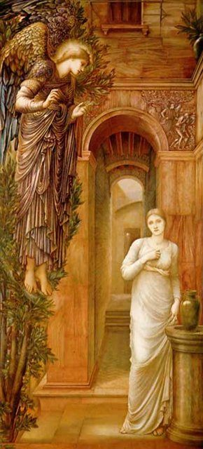 Благовещенье :: Бёрн-Джонс Эдуард  - Edward Coley Burne-Jones фото