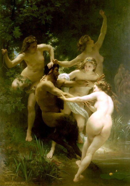 картина <Нимфы и сатир> :: Адольф Бугеро - Adolphe William Bouguereau фото