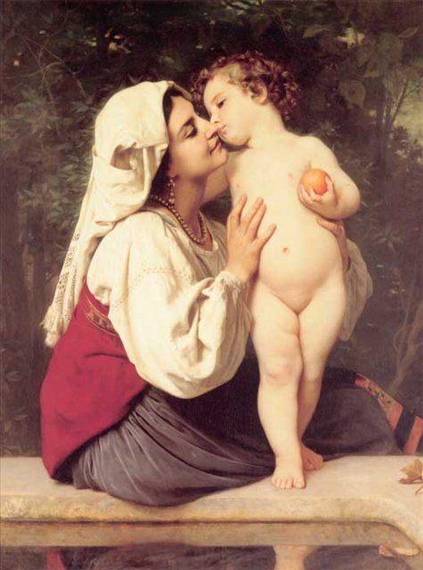 Поцелуй ::  Адольф Бугеро - Adolphe William Bouguereau фото