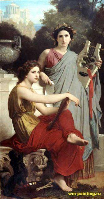 Музыка и литература :: Адольф Бугеро, описание картины  - Adolphe William Bouguereau фото