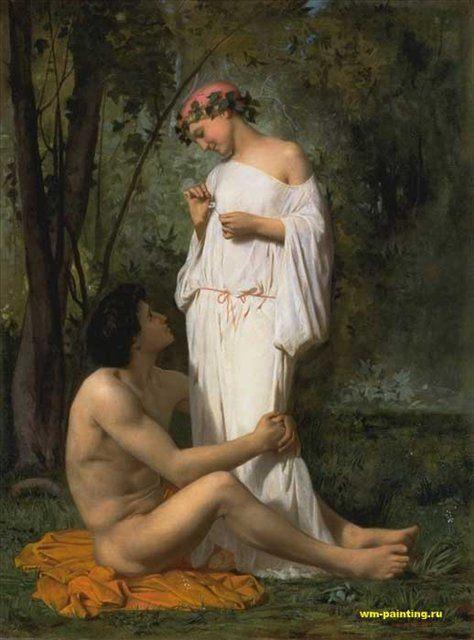 картина Идиллия, художник Адольф Бугро - Adolphe William Bouguereau фото