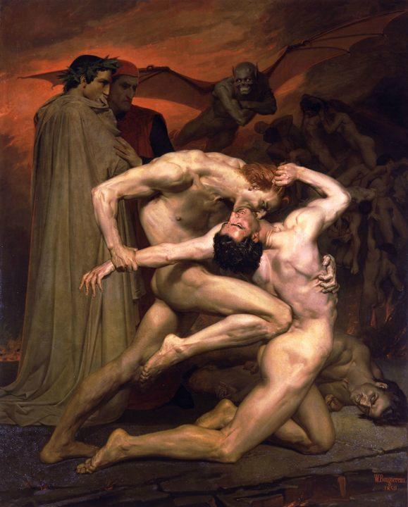 Данте и Вергилий в Аду :: Адольф Бугеро - Adolphe William Bouguereau фото