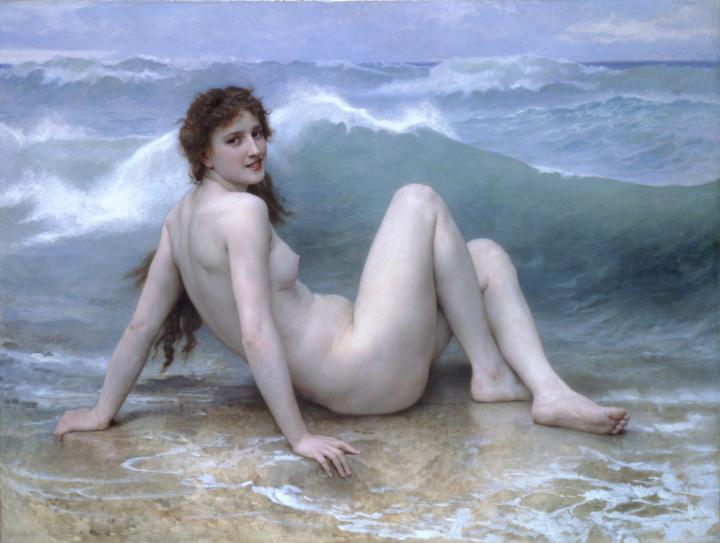 картина Волна, художник Адольф Бугеро - Adolphe William Bouguereau фото