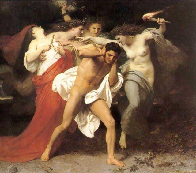 Орест, преследуемый Фуриями :: Адольф Бугро - Античная мифология фото