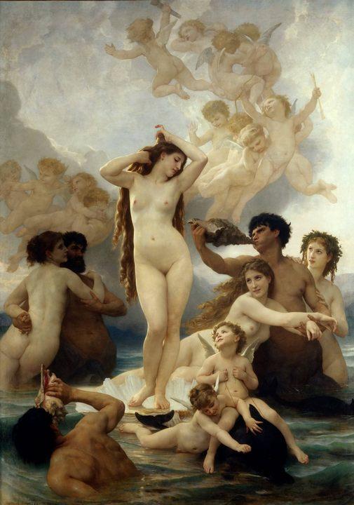 картина Рождение Венеры :: Бугеро Адольф - Античная мифология фото