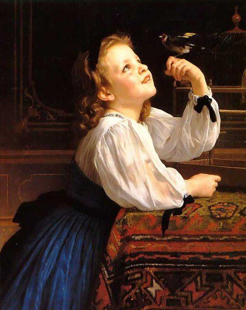портрет девочки Птаха ::  Адольф Бугеро - Портреты фото