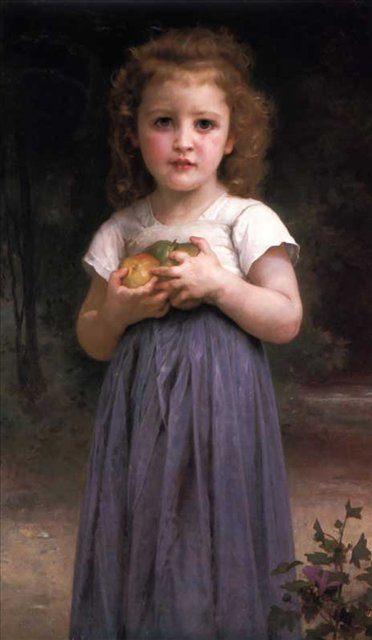 Маленькая девочка с яблоками - По жанру фото