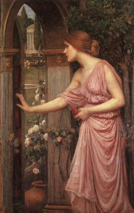 Психея, открывающая дверь в сад Купидона, Джон Уйльям Вотерхауз (Англия) - Античная мифология фото