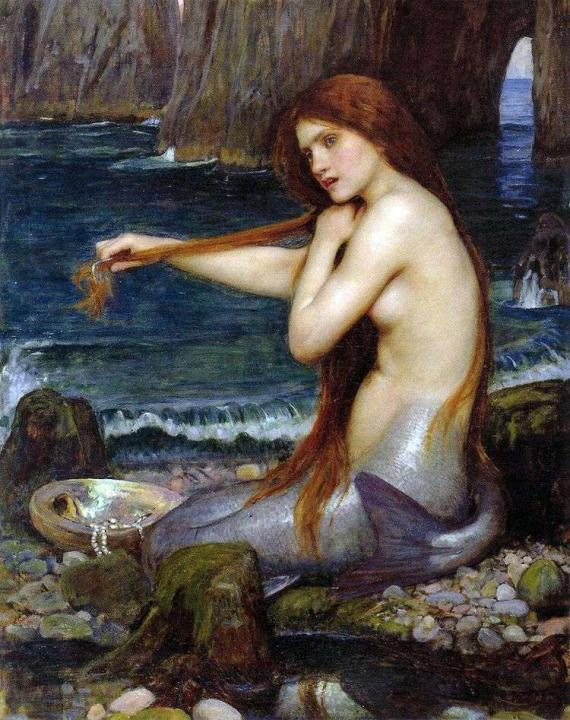 картина Русалка :: Джон Уйльям Вотерхауз, описание картины  - Античная мифология фото