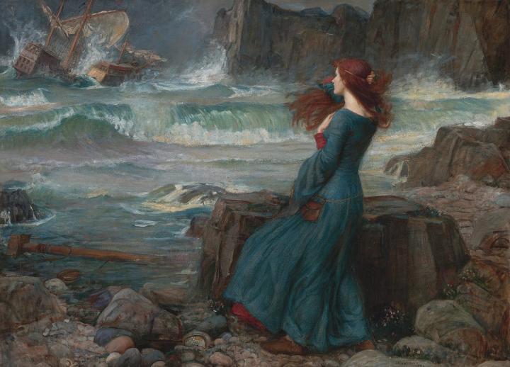 картина Миранда. Буря :: Джон Уйльям Вотерхауз - John William Waterhouse фото