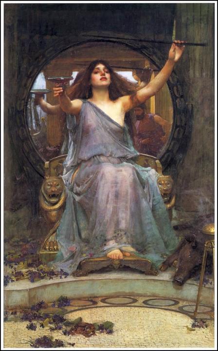 Церцея предлагает чашу Одисею - John William Waterhouse фото