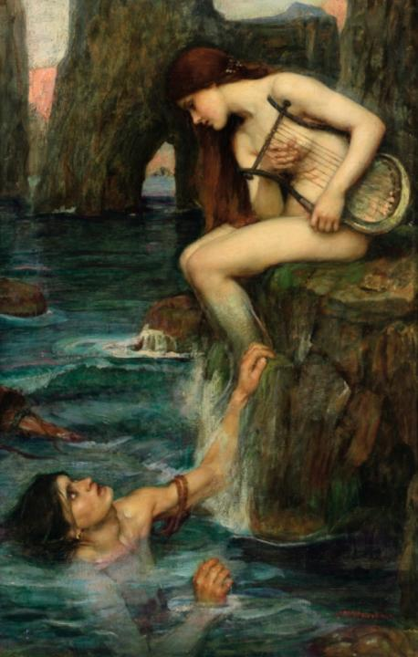 Сирена :: Джон Уйльям Уотерхаус - Античная мифология фото