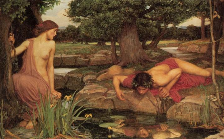 Эхо и Нарцисс :: Джон Уйльям Вотерхауз - Античная мифология фото