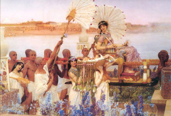 картина Обретение Моисея ::  Альма-Тадема сэр Лоуренс - Древний Рим и Греция, Египет фото