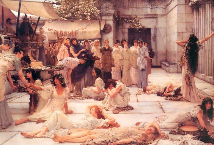 картина <женщины Амфиса> :: Альма-Тадема, сэр Лоренс - Древний Рим и Греция, Египет фото