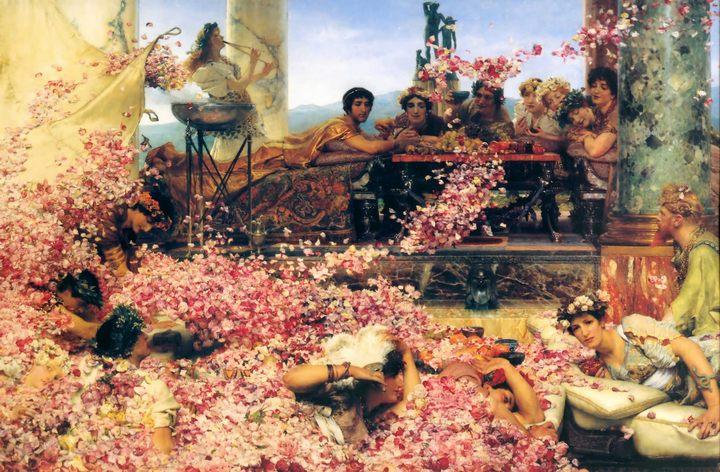 картина пир во дворце - Розы Гелиогабала :: Альма-Тадема сэр Лоуренс - Lourens Alma Tadema фото