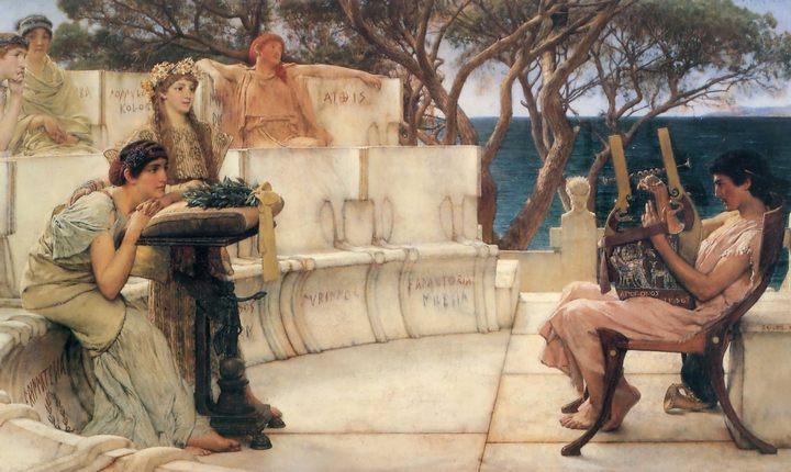 картина Сапфо и Алкей :: Альма-Тадема сэр Лоуренс - Lourens Alma Tadema фото