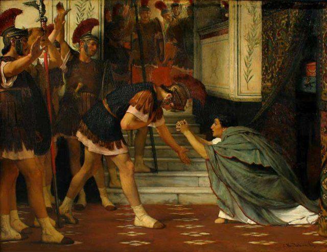 Вызванный Клавдий :: Альма-Тадема сэр Лоуренс  - Исторические сюжеты в живописи фото