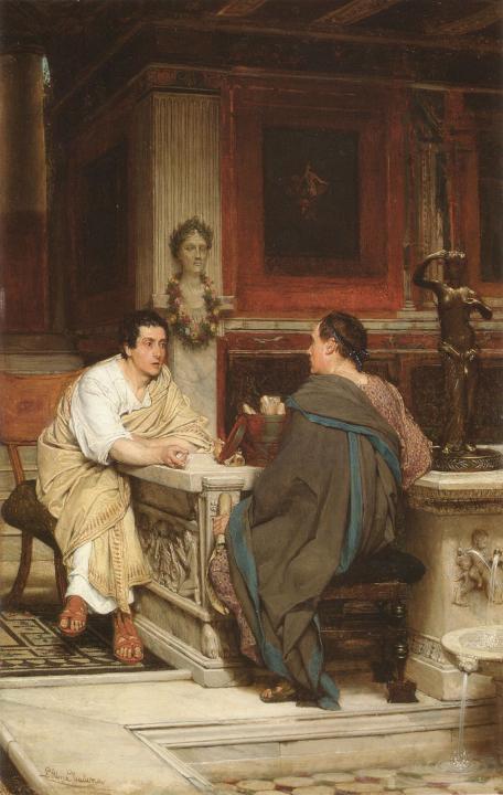 картина Беседа :: Альма-Тадема Сэр Лоуренс - Lourens Alma Tadema фото