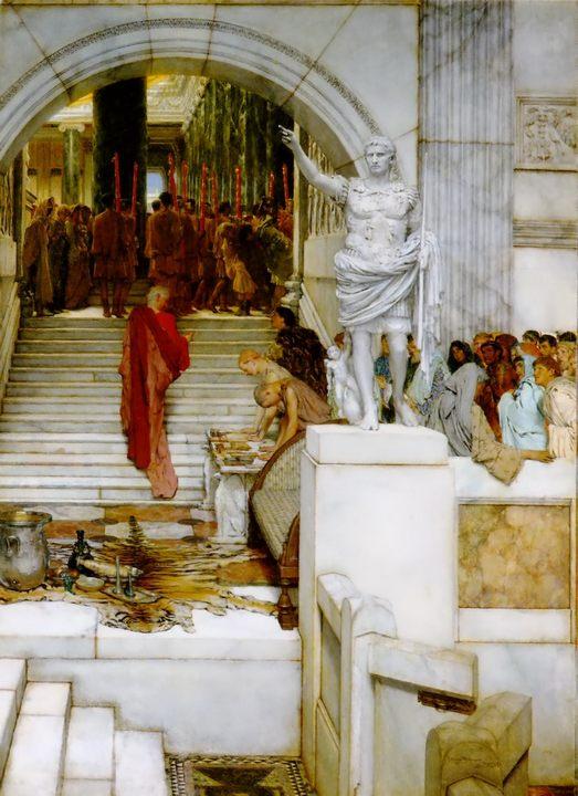 картина После аудиенции ::  Альма-Тадема сэр Лоуренс - Lourens Alma Tadema фото