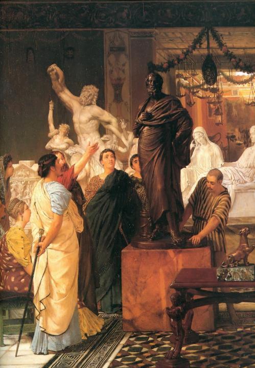 картина Галерея Скульптуры :: Альма-Тадема Сэр Лоуренс - Lourens Alma Tadema фото