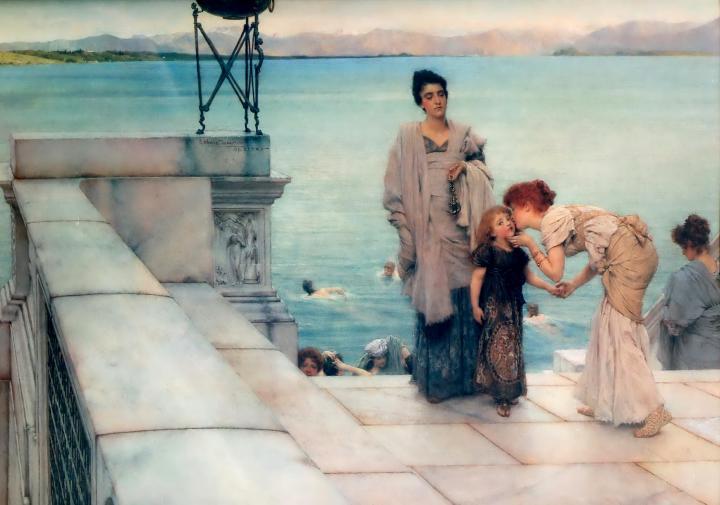 Поцелуй ::  Альма-Тадема сэр Лоуренс - Море в живописи ( морские пейзажи, seascapes ) фото