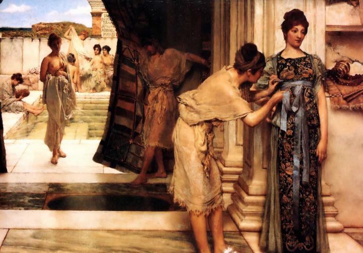 картина <Фригидарий ( Фригидариум )> :: Альма-Тадема Сэр Лоуренс - Lourens Alma Tadema фото