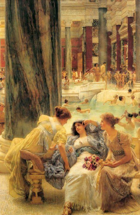 Термы (бани) Каракалла :: Альма-Тадема сэр Лоуренс, описание картины - Древний Рим и Греция, Египет фото