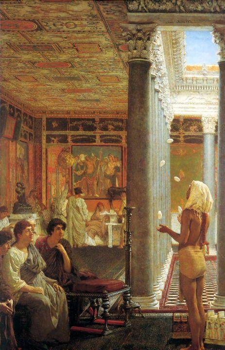 Египетский жонглёр, Альма-Тадема сэр Лоуренс - Древний Рим и Греция, Египет фото