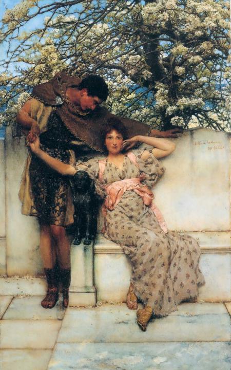 Обещание весны ::  Альма-Тадема сэр Лоуренс - Lourens Alma Tadema фото
