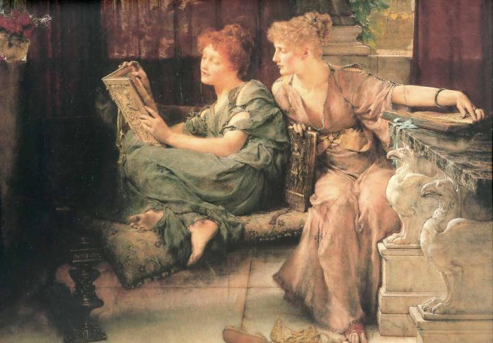 картина <Сравнения> :: Альма-Тадема Сэр Лоуренс - Lourens Alma Tadema фото