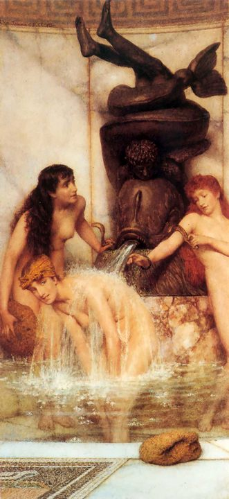 Лопаточки и губки :: Альма-Тадема сэр Лоуренс - Картины ню, эротика в шедеврах живописи фото