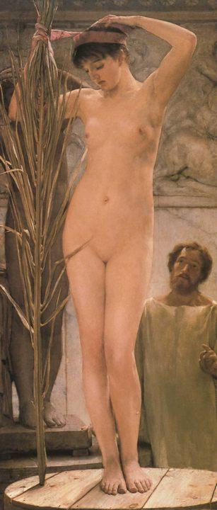 картина Модель скульптора :: Альма-Тадема сэр Лоуренс - Картины ню, эротика в шедеврах живописи фото