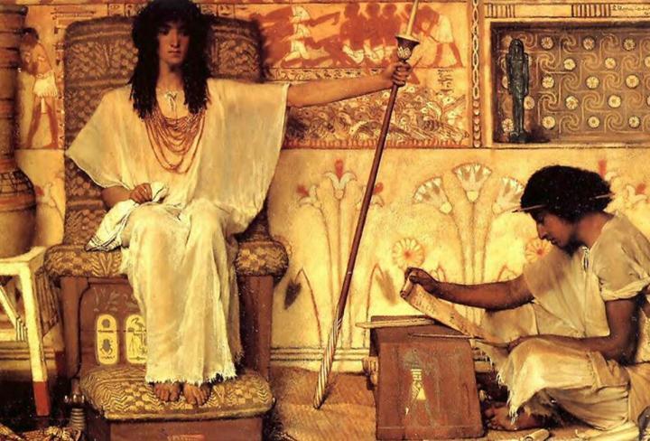 картина Иосиф - надзиратель зернохранилищ фараона :: Альма-Тадема - Lourens Alma Tadema фото