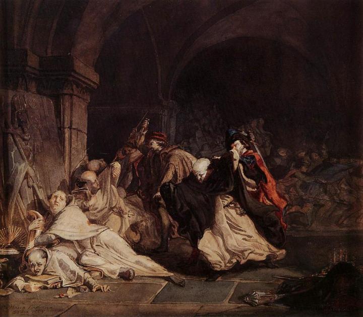 Избиение монахов из Тамонда - Исторические сюжеты в живописи фото
