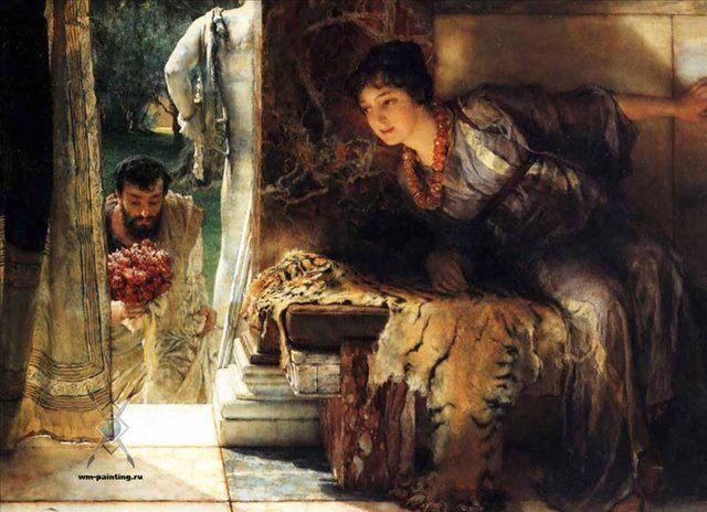 картина Долгожданные шаги :: Альма-Тадема сэр Лоуренс - Романтические сюжеты в живописи фото