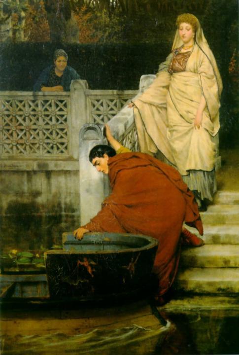 картина <Посадка в лодку> :: Альма-Тадема - Lourens Alma Tadema фото