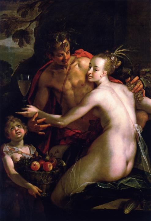 Бахус, Церес и Купидон :: Ханс вон Аахен - Античная мифология фото