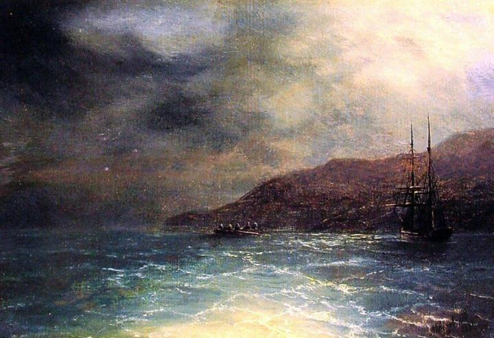 Ночной рейс :: Иван Константинович Айвазовский - Море в живописи ( морские пейзажи, seascapes ) фото